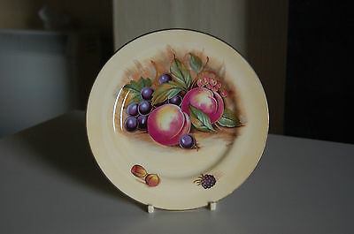 Aynsley Small Plate - Fruit Pattern signed by D Jones