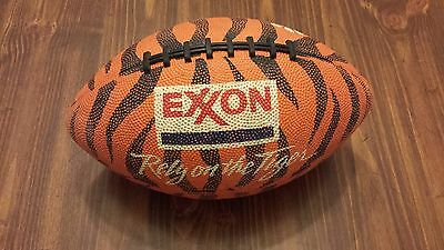 Exxon Rely on the Tiger(Clemson) Rubber Football VG Free S&H