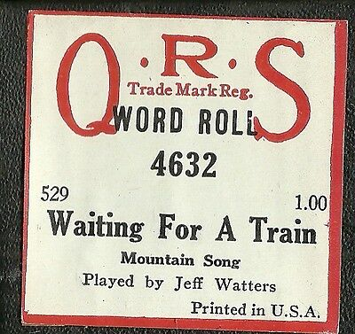 Waiting For A Train (Jimmie Rodgers) Waters aka Cook  4632 Piano Roll Original
