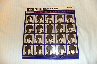 The Beatles - A Hard Days Night UK Mono Yellow and Black Parlophone