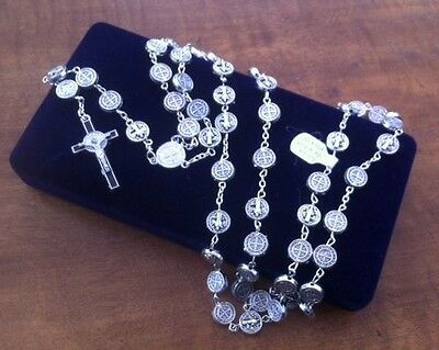 rosary bead necklace - saint benedict rosary