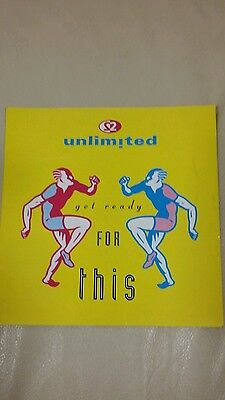 """2 UNLIMITED 7"""" vinyl - Get ready for this"""