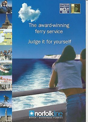 Norfolk Line (Dover to Dunkerque) Ferry Guide 2005