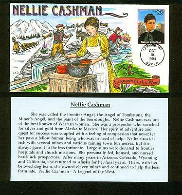 Nellie Cashman FDC, HP Collins, Legends of the West, 2869, Sled Dog Team