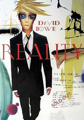DAVID BOWIE Reality UK Tour 2003 Large POSTER rare new !!!