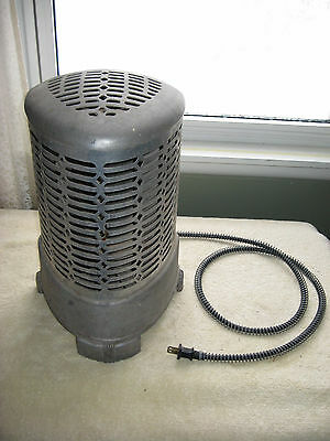 1940's Wesix Art Deco Style Aluminum Electric Radiant Space Heater Works Great!