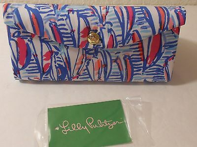 Nwt~Lilly Pulitzer Sunglass Case Resort White Red Right Return Foldable~