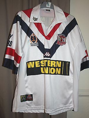 Vintage Sydney Rooster Mens XL white rugby shirt