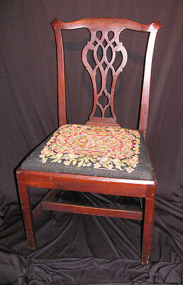 Antique American Mahogany Chippendale Side Chair Circa 1770