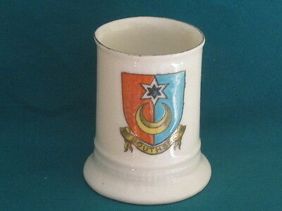 Arcadian China WW1 Shell Casing Match-Holder - SOUTHSEA crest