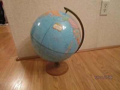 Vintage Crams Imperial World Globe-Wood Stand