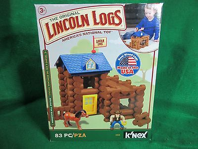 THE ORIGINAL LINCOLN LOGS  with real Wood Logs