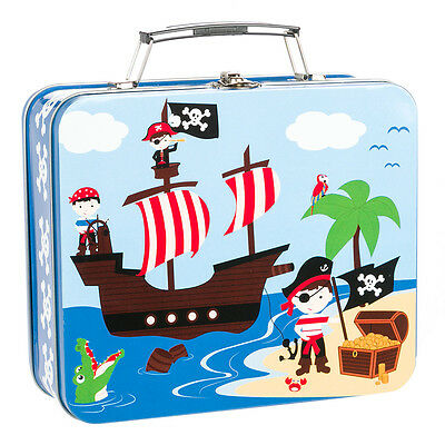 NEW Bobble Art Pirate Tin Suitcases