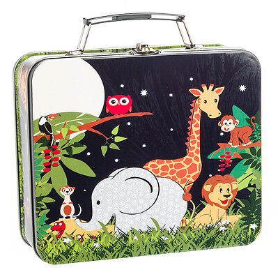 NEW Bobble Art Jungle Animals Tin Suitcases