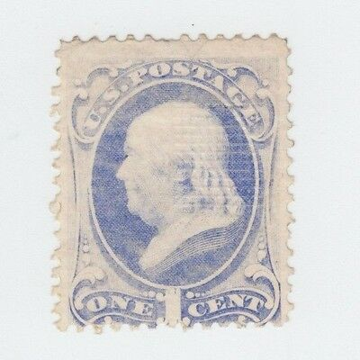 US Scott #134 1c Benjamin Franklin H grill MLH Mostly OG Stamp