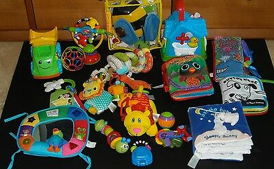 Lot 19 Infant Baby Developmental Toys -Lamaze- Fisher Price-Infantino and More..
