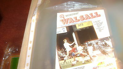 walsall v hull city 88/89 div 2 programme excellent condition