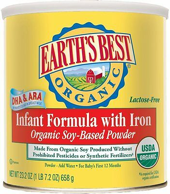 2 PACK - Earth's Best Organic, Soy Infant Formula with Iron, 23.2 Ounce