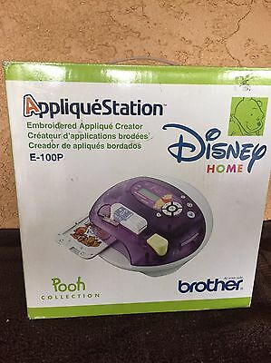 Brother Applique Station Embroidery Machine E-100P DISNEY HOME POOH Collection