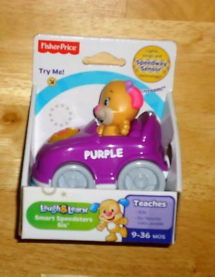 Fisher-price Laugh & Learn Smart Speedsters Sis Purple Car Sings Laughs Teaches
