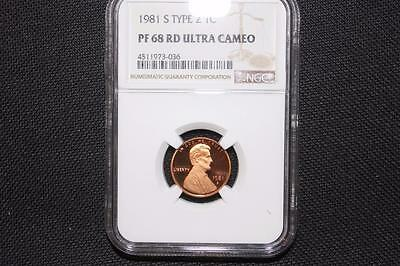 "1981-S Ngc Pr68 Rd Ucamrd ""red"" Type 2 Lincoln Cent"