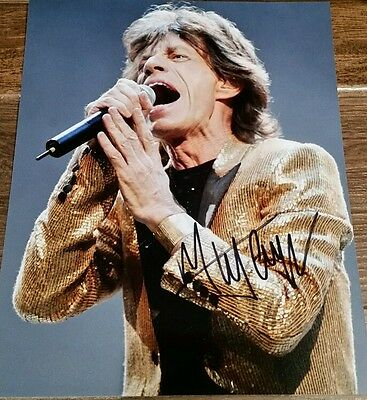 MICK JAGGER Hand Signed Autograph 8 x 10 Photo COA AUTHENTIC