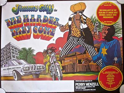 The Harder They Come - Vintage R77 British Quad Poster - Jimmy Cliff Music Art