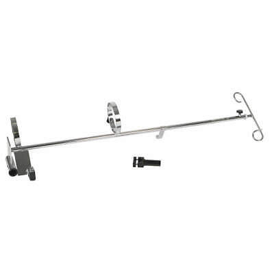 GRAINGER APPROVED Wheelchair O2/IV Pole, MDS85190, Silver