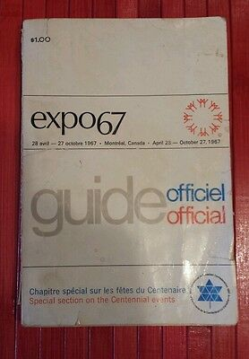 Vintage Montreal World Fair Expo 67 Terre des Hommes Official Guide .
