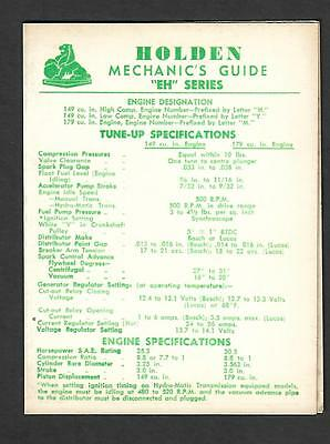 Gmh 1964 Holden Mechanics Guide For Eh Series