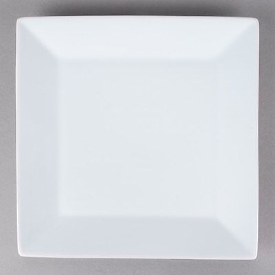 "12 NEW Core 10"" Bright White Restaurant Catering Square China Plates 303KSE16"