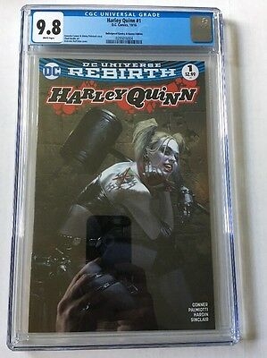 HARLEY QUINN #1 CGC 9.8 (NM/M)  Dell Otto Variant Color Limited 3000 Copies