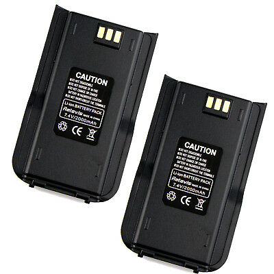 2pcs Li-ion Batería 2000mAh for Retevis RT3 DMR Radio, TYT MD-380 2-Way Radio ES