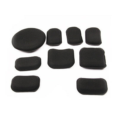 Motorcycle Helmet Tactical Airsoft Accessory Foam Pads EVA Mats +Velcro 19 Pads