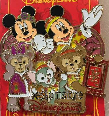 Disney pin - HKDL 2017 Chinese New Year Pin LE500 - Mickey Duffy Family
