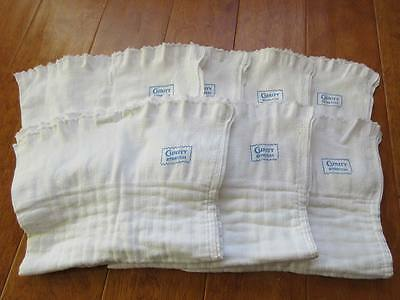 Lot of 7 Blue-Stamped Vintage Curity Stretch Diapers