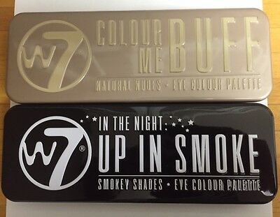 W7 Colour Me Buff Natural Nudes And In The Night Eye Up In Smoke Palette Smokey