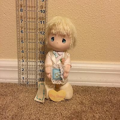 Precious Moments 7 Inch Vintage Plush Doll With Stand And Tags