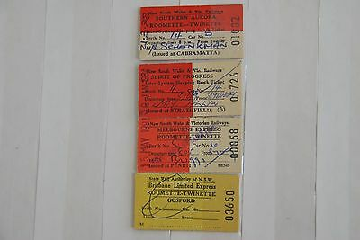 NSW Railway Tickets Four different trains