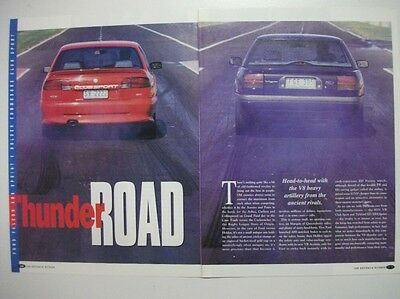FORD ED XR8 SPRINT & VR HSV CLUBSPORT 185i 6 PAGE MAGAZINE COMPARISON ROAD TEST