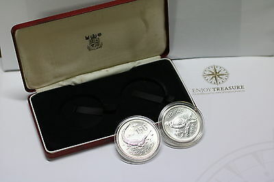 Pakistan 1976 Silver 2 Coin Set Wwf Conservation Series Boxed A60 Cg1