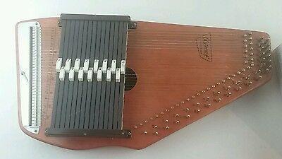 Oscar Schmidt Autoharp 15-chord 36-string tuner instructions 33 1/3 record picks