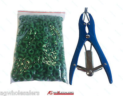 Elastrator & 500 Rubber Rings For Sheep & Goat Castration. Castrator Applicator