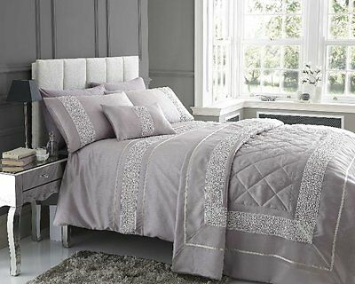 "Double Size Quilt Duvet Quilt Cover Bed Set ""esme""-Shades Of Mauve"