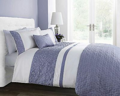 "DOUBLE SIZE QUILT DUVET QUILT COVER BED SET ""SOPHIA""- Shades of VIOLET"