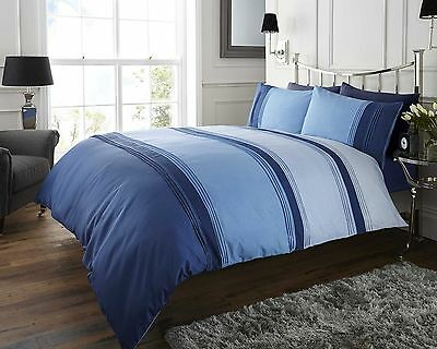 "DOUBLE SIZE QUILT DUVET QUILT COVER BED SET ""QUINN""- Shades of Blue"