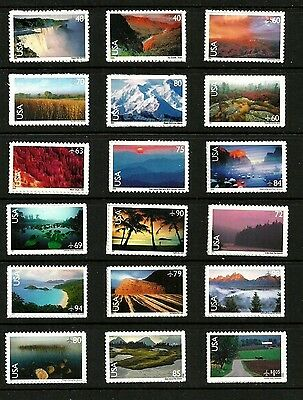 Us National Parks Airmail Scott #c133-150 American Landscapes 18 Mnh Stamp Set