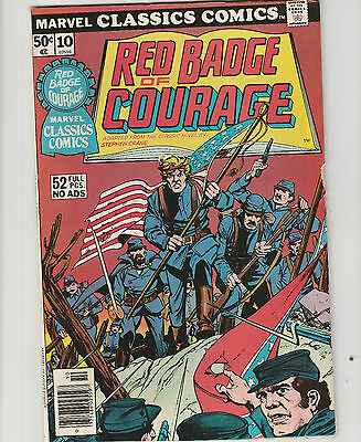 Marvel Classics Comics,#10 52 page.Red badge of Courage,Civil War,Comic 1976