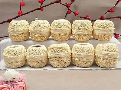 Set Of 10 Pcs Anchor Cotton Crochet Knitting Thread Tatting Embroidery AMT23A