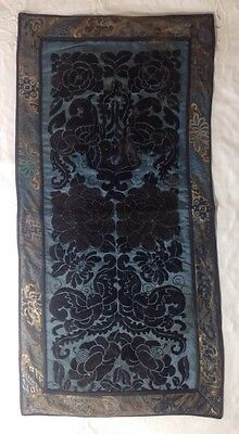 Antique Chinese Robe Sleeve Panels Embroidered Forbidden Stitch